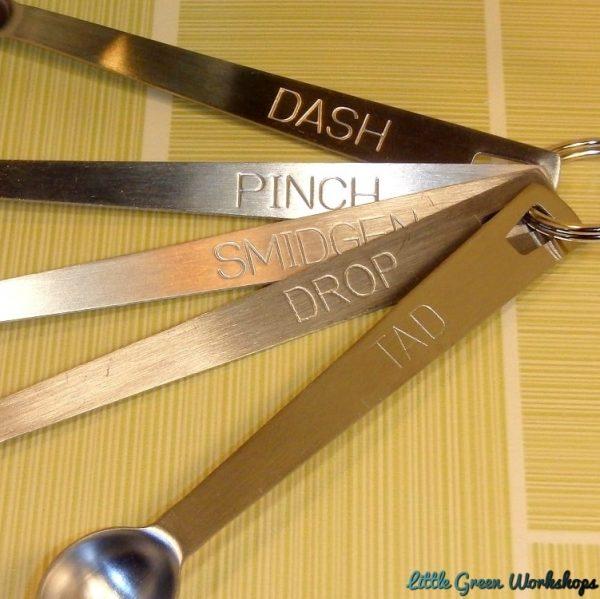 Mini Measuring Spoons close-up