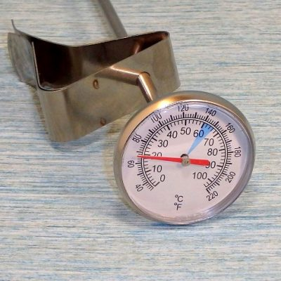 Cheese making Thermometer close-up