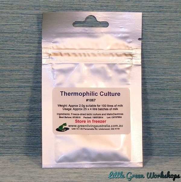 Thermophilic culture MOT 092