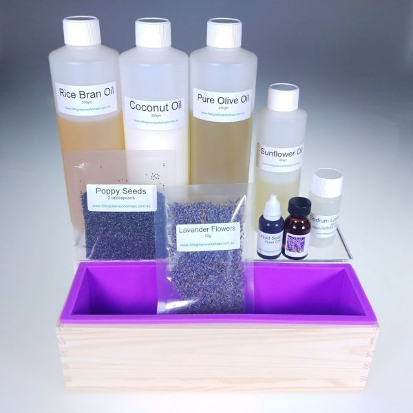 Lavender Flowers Scrub soap making kit 1kg