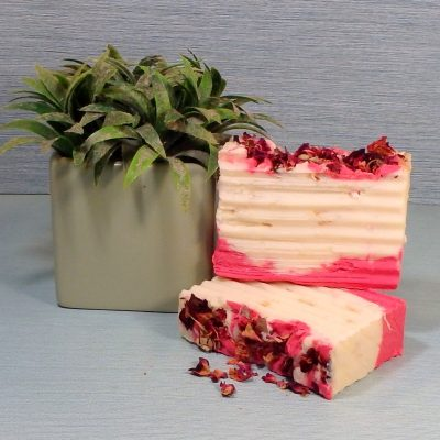 Rose petal and Loofah Soap