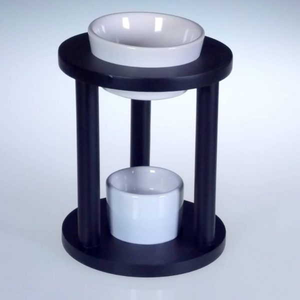 Wood and Ceramic Round Oil Burner