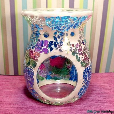Sparkling Rainbow Crackle Oil Burner rear