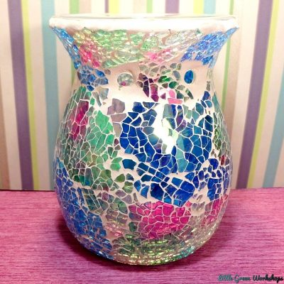 Sparkling Rainbow Crackle Oil Burner