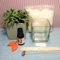 Glass jar soy candle kit