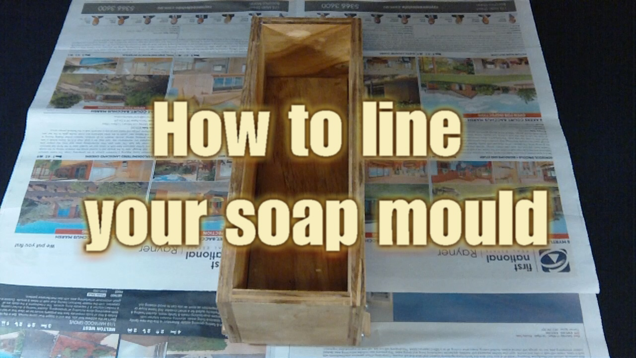 Lining your soap mould