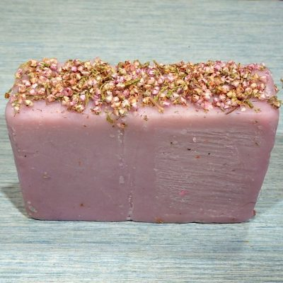 Heather flowers soap bar