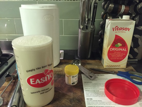 Soy Yoghurt using EasiYo Thermos