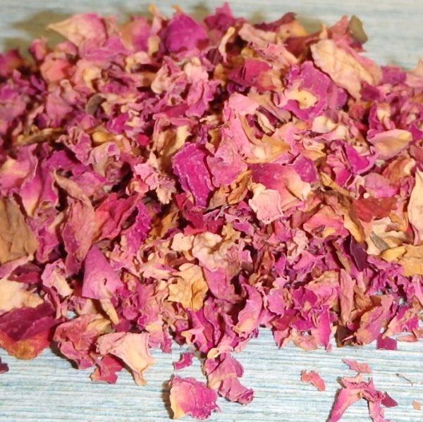 Pink Rose Petals Organic close