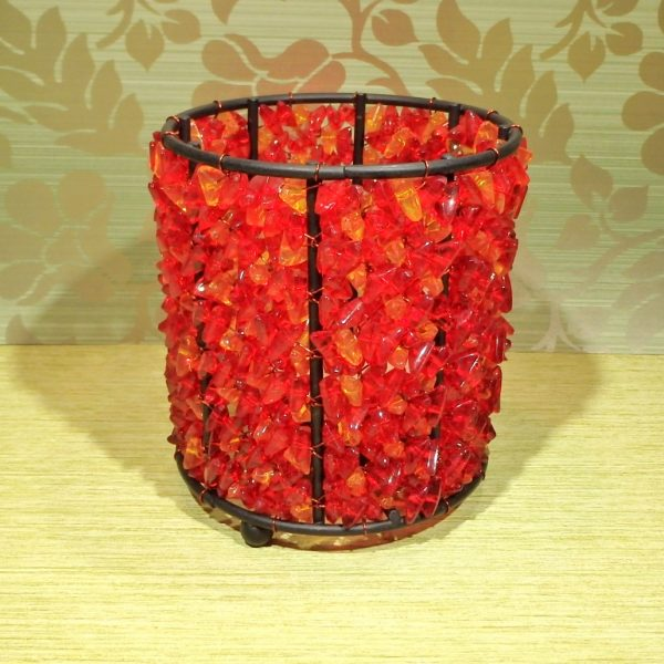 Beaded tealight holder