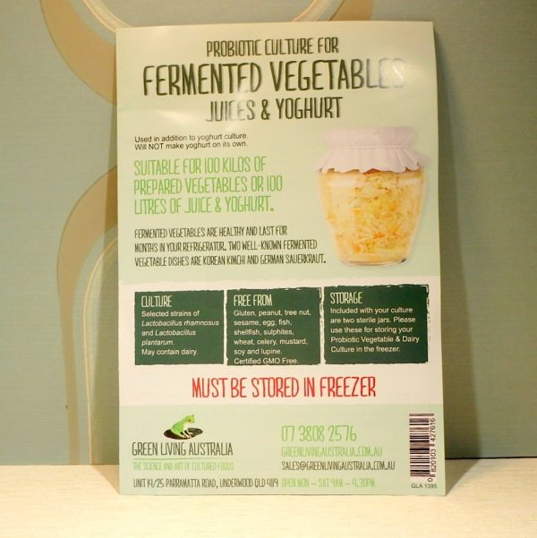Probiotic Fermented Vegetable Culture