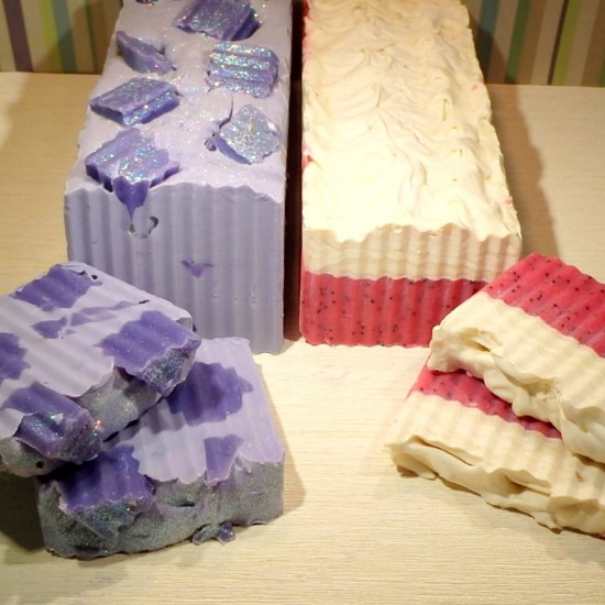 handmade soap from our workshops - Soap logs