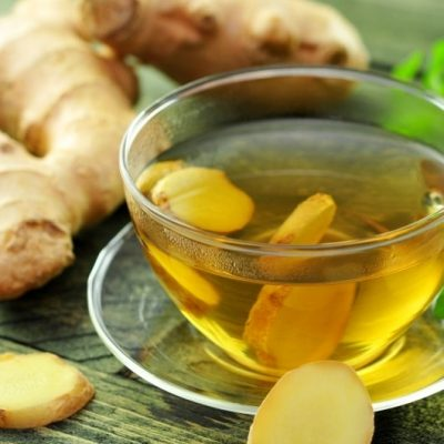 Fresh Ginger and Green Tea