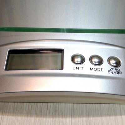 Electronic Kitchen Scale Closeup