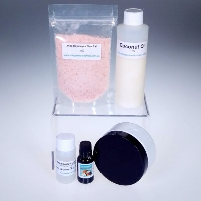 Island Coconut Pink Salt Scrub Kit