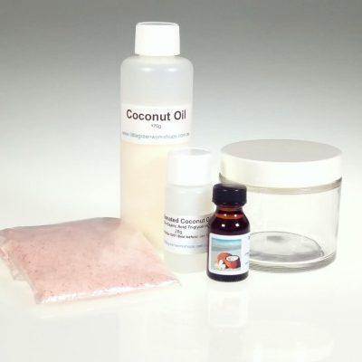 Island Coconut Pink Salt Scrub Kit