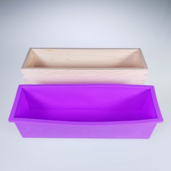 Wooden Soap Mould with Silicone Liner 1.2kg