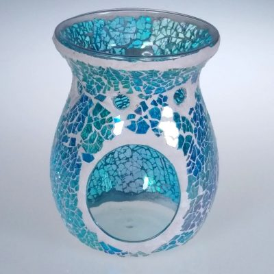 Aqua Azure Crackle Oil Burner