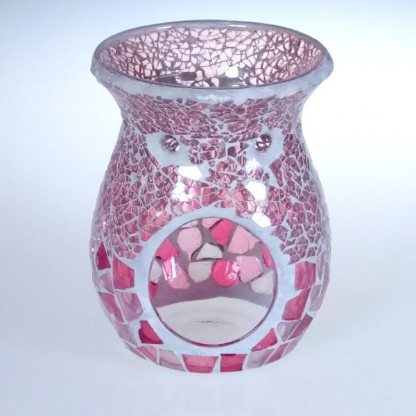 Powder Pink Crackle Oil Burner