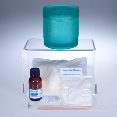Teal Glass Canister Soy Candle Kit