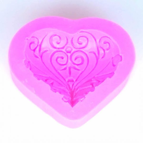 Heart Filigree Silicone Mould