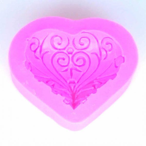 Heart Filigree Silicone Mould
