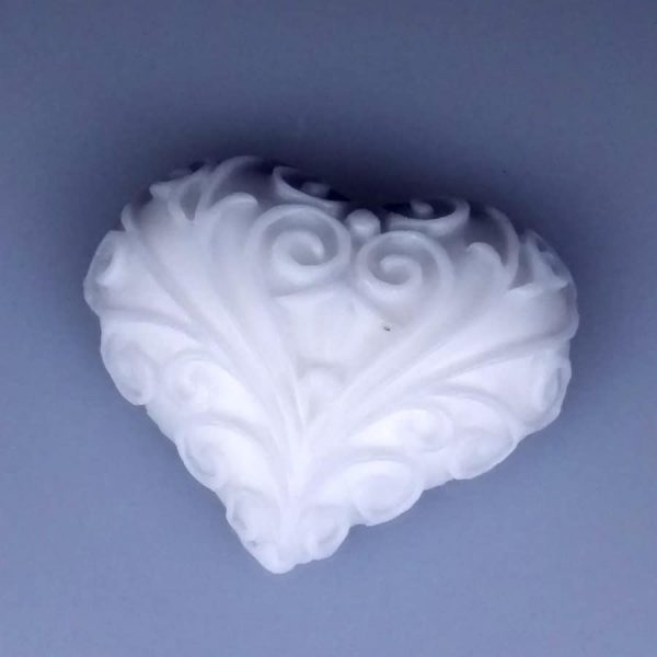 Heart Filigree Silicone Mould Soap