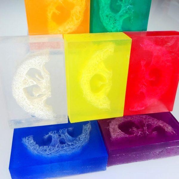 loofah slice soaps