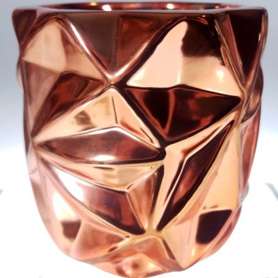 Ceramic Geometric Rose Gold Jar Soy Candle Kit