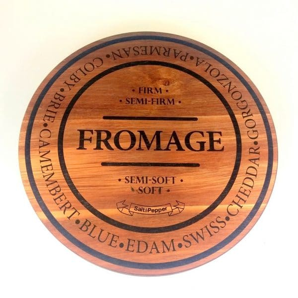 Salt & Pepper FROMAGE 28cm Round Cheese Board front shot