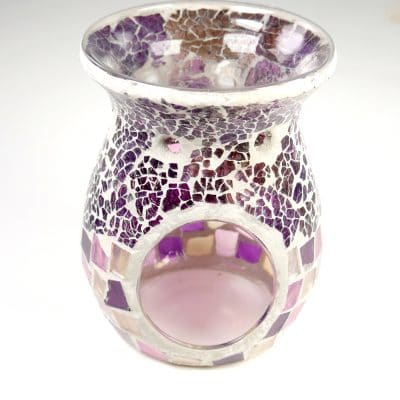 Dark and Light Purple Kaleidoscope Oil Burner