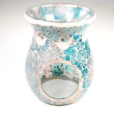 Soft Blue Pink Crackle Oil Burner