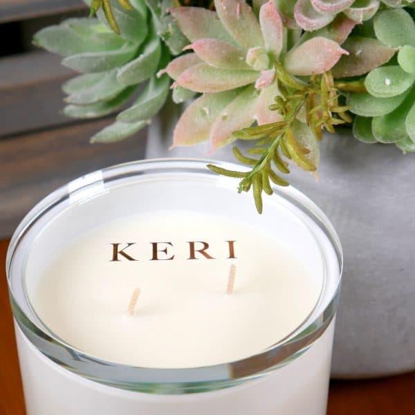 Keri Premuim Candle closeup