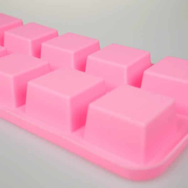 Square Silicone Mould 10 Cavity close up
