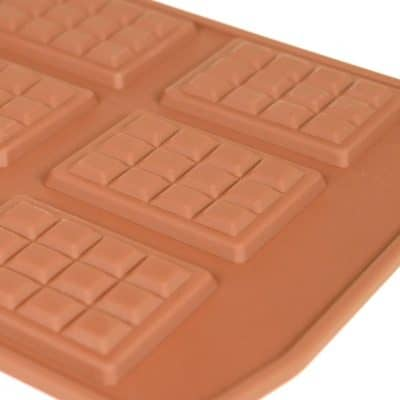 Chocolate Mini Block Silicone Mould closeup