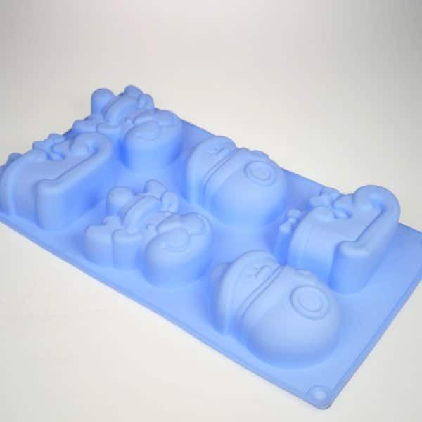 Christmas Deer Sled Snowman Silicone Mould