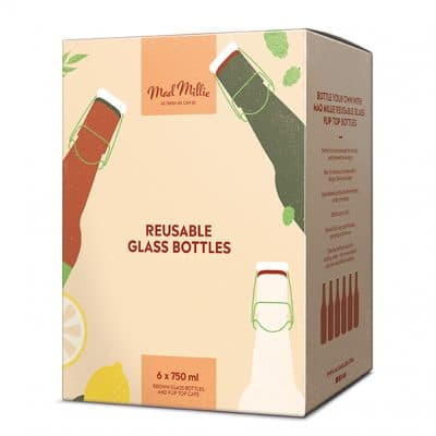 Glass Flip Top Bottles 750ml