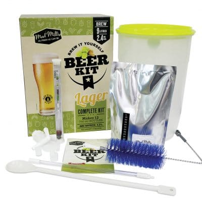 Brew it Yourself Lager Kit contents