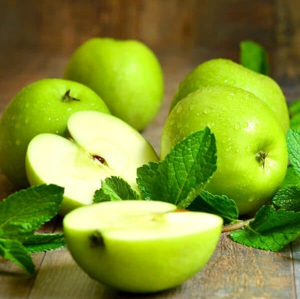 Fresh Mint and Apples