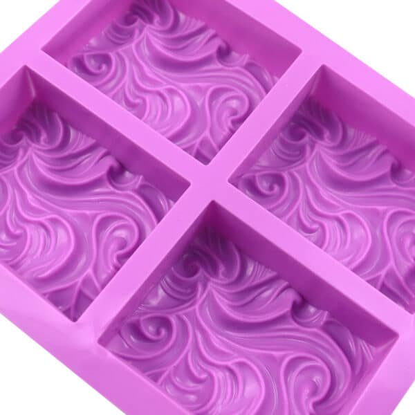 Swirl Silicone mould close up