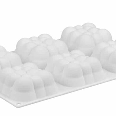 3D Bubble Cloud silicone Mould flat