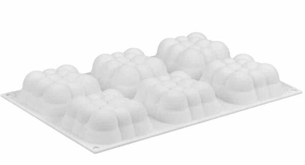 3D Bubble Cloud silicone Mould flat
