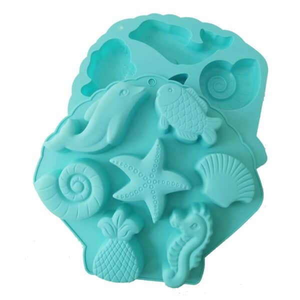 Marine Life Silicone Mould both sides