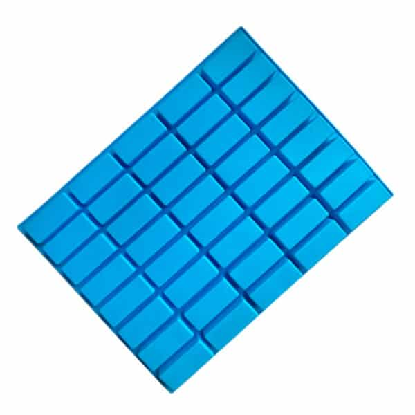 Mini Rectangle Silicone Mould 40 Cavity Back view