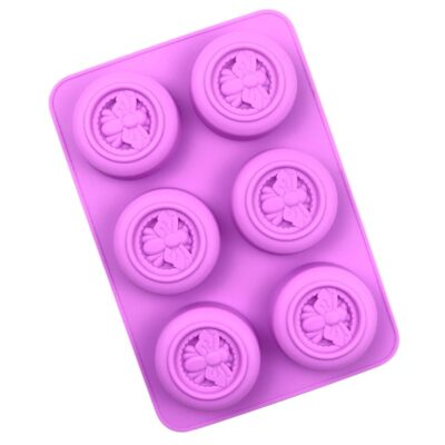 Round Bee 6 Cavity Silicone Mould