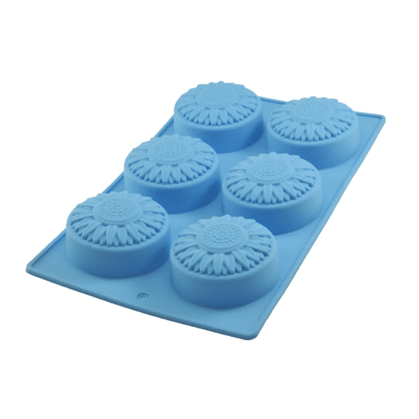 Sunflower Silicone mould 6 Cavity